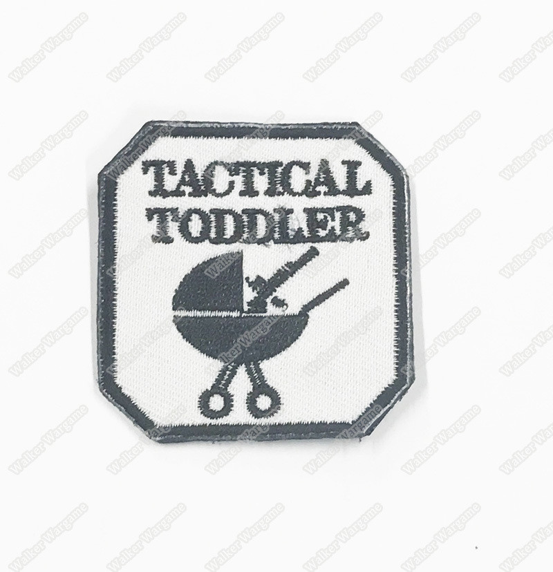 WG085 Tactical Toddler US Army Chapter Morale Patch With Velcro - Black