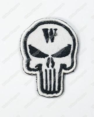 WG111 Walker Wargame 2018 New Logo Patch With Velcro - White Color