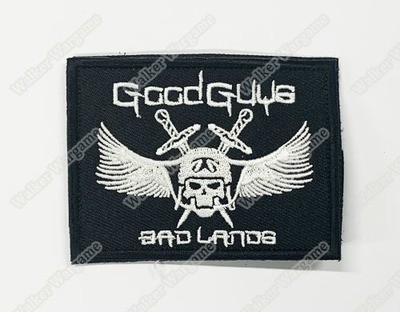 WG116 Good Guys Bad Lands Patch With Velcro - Full Colour