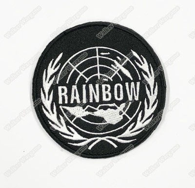 WG104 Tom Clancy's Rainbow Six Unit Patch With Velcro - Black Colour