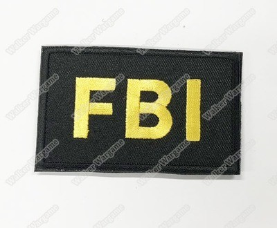 WG094 US Federal Bureau of Investigation FBI Patch With Velcro - Black Color