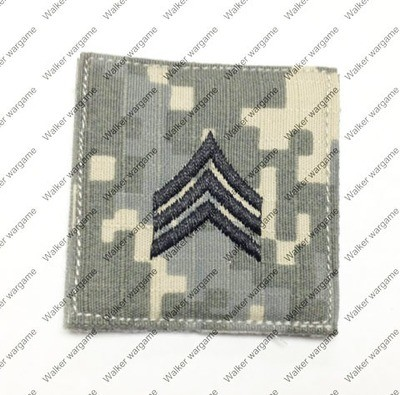 B350 US Army E-5 Sergeant (Sgt) Rank Patch With Velcro - ACU Colour