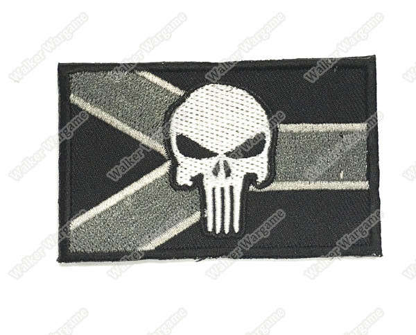 WG049 Navy SEAL Punisher RSA Flag Patch With Velcro - ACU Color