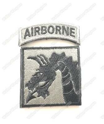 WG073 US Amry 18th Airborne Corps Patch With Velcro - ACU Color