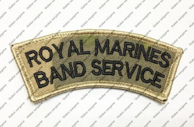 B2405 UK British Royal Marines Patch With Velcro - Multicam Colour
