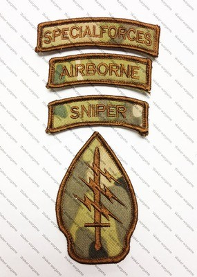 B1743 US Army Special Force - Delta Force Patch With Velcro - Multicam Colour