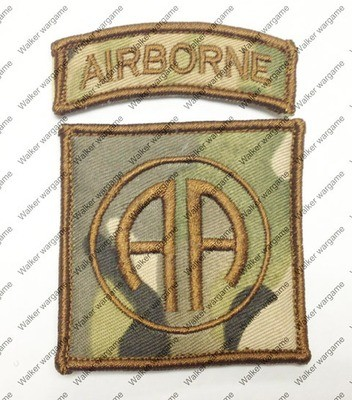 B180 US Army 82th Airborne Division Patch With Velcro - Multicam Colour