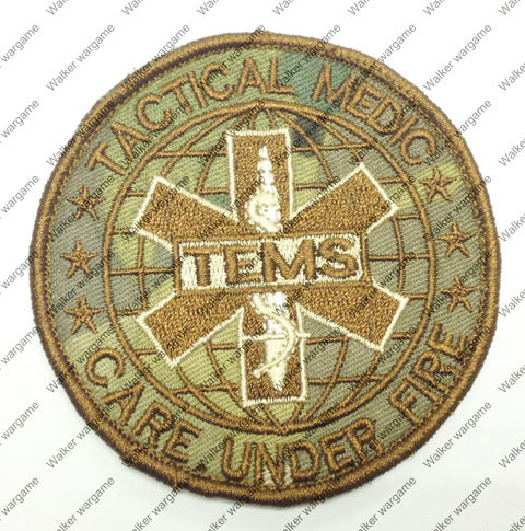 B1559 TEMS -Tactical Medic Unit Patch With Velcro - Multicam Colour