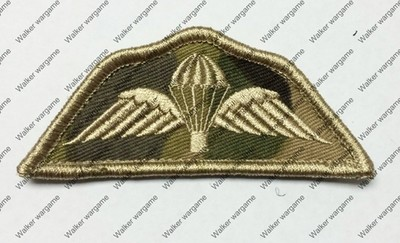 B2410 UK Airborne Division Patch With Velcro - Multicam Colour