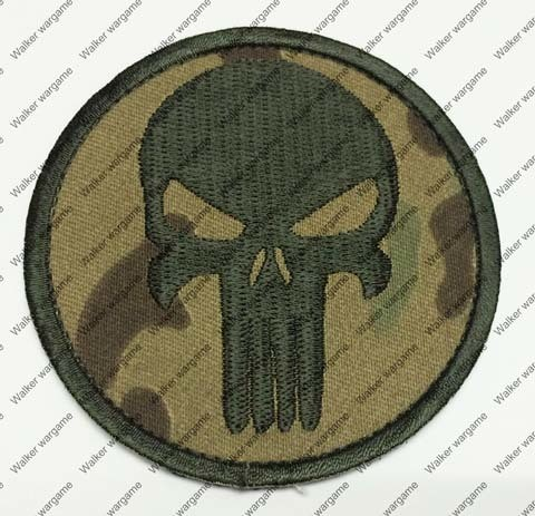BW001 US Navy Seal Team 6 Devgru Punisher Patch With Velcro - Multicam Colour