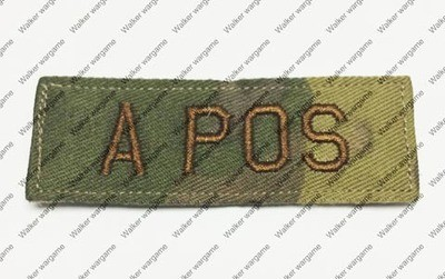 B615 US Army A POS Blood Type Patch With Velcro - Multicam Colour