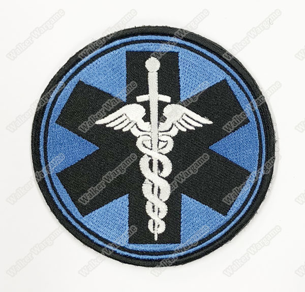 WG106 Paramedic TEMS Tactical ParaMedic Unit Patch With Velcro - Blue Colour