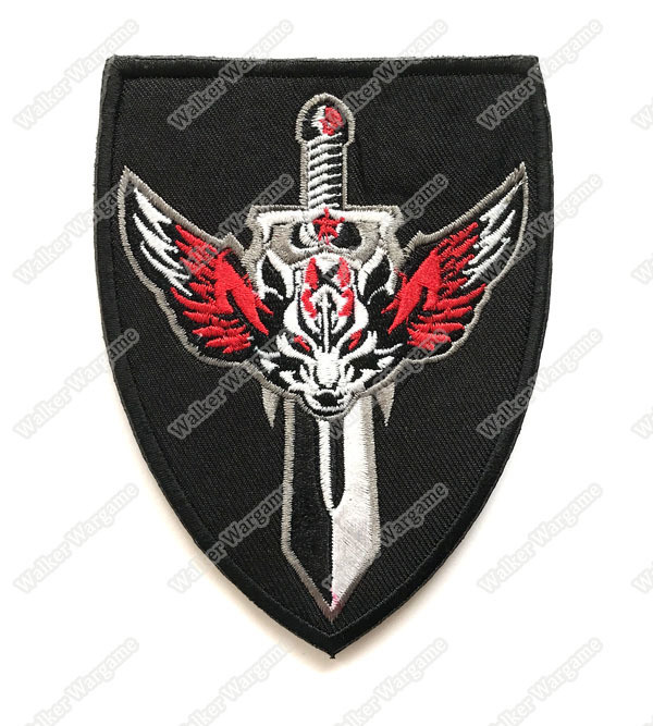 WG071 Wolf Warriors Patch With Velcro - Full Color