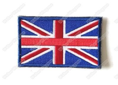 WG074 UK United Kingdom Britain Flag Union Jack With Velcro - Full Colour