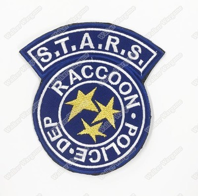 WG076 STARS - RACOON City Police Department Patch With Velcro - Full Colour