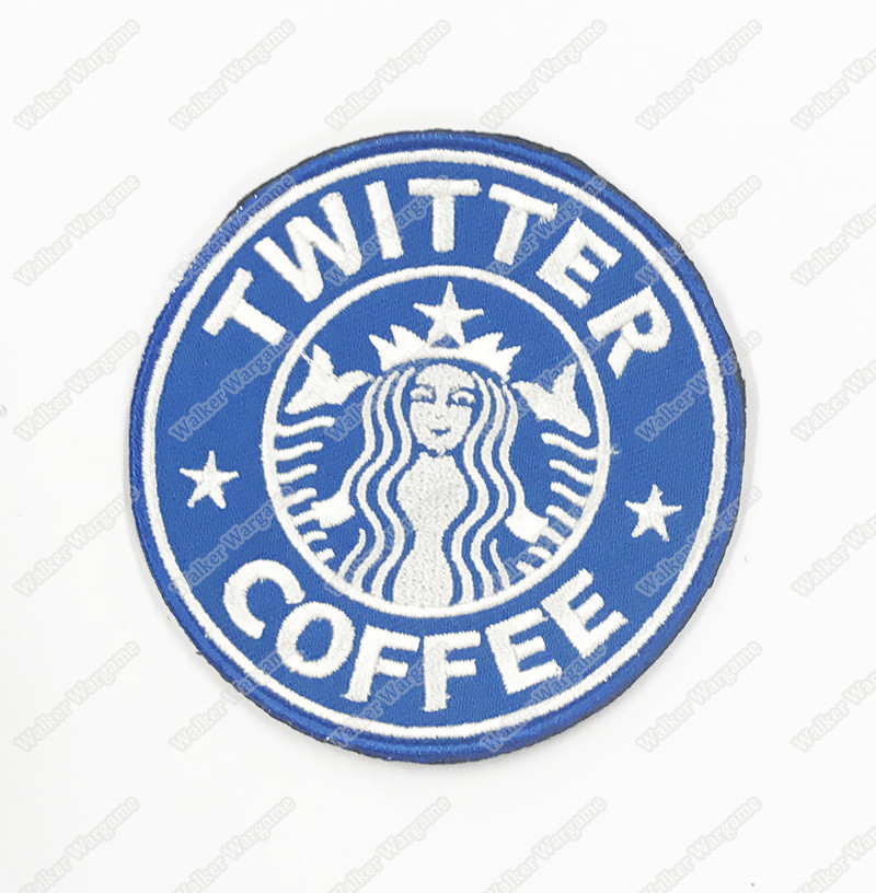 WG087 Twitter Coffee US Army Chapter Morale Patch With Velcro - Full Color