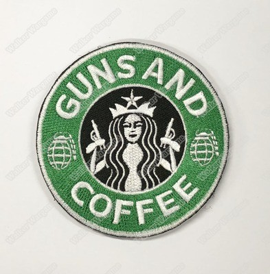 WG097 Guns And Coffee Chapter Morale Patch With Velcro - Full Colour