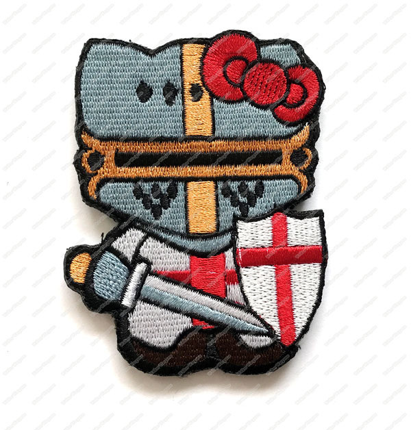 WG061 Hello Kitty Crusaders Patch With Velcro - Full Color