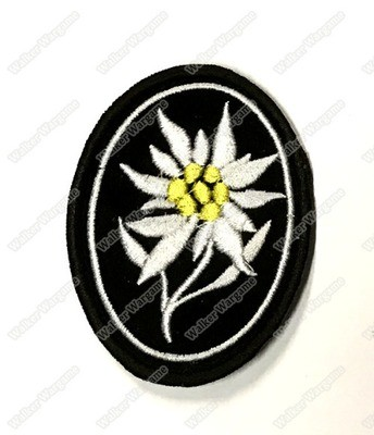 WG036 Edelweiss - German 1st Gebirgs Division Patch With Velcro - Full Color