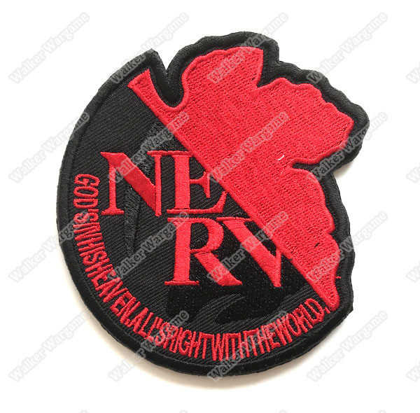 WG063 Neon Genesis Evangelion NERV Patch With Velcro - Full Color