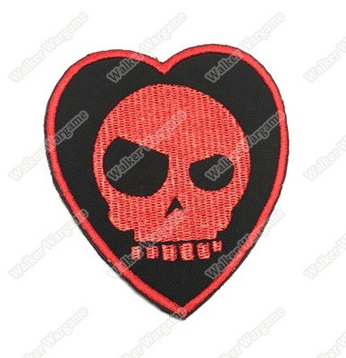 WG021 Mean T-Skull Bloody Valentine Patch With Velcro - Full Colour