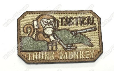 WG022 Tactical Trunk Monkey Patch With Velcro - Full Colour
