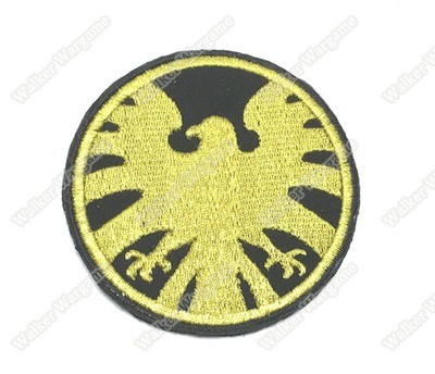 WG019 Agents of S.H.I.E.L.D SHIELD Patch With Velcro - Full Colour