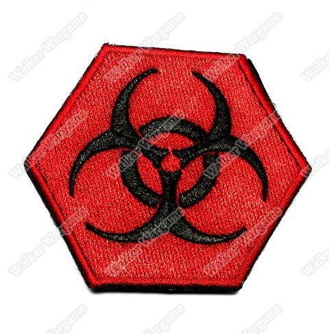 WG013 Biohazard Sight Patch With Velcro - Full Colour