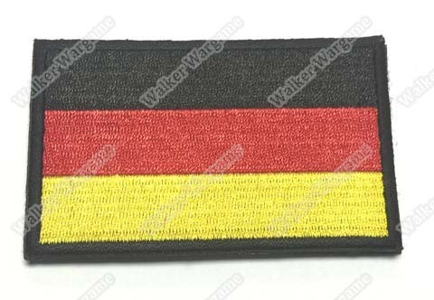 WG006 German Flag Patch With Velcro - Full Colour