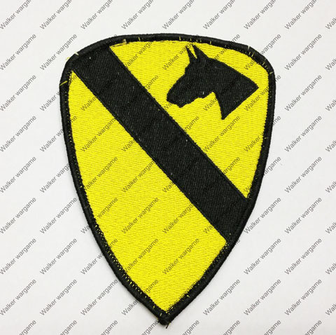 B698 US Army 1st Cavalry Division Patch With Velcro - Full Colour