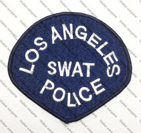 B114 LAPD Los Angeles Police SWAT Patch With Velcro - Blue