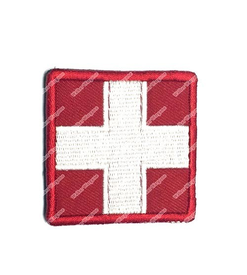 PB691 US Army Medic Red Cross Patch With Velcro - Full Color