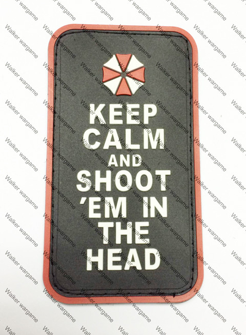 PB127 Resident Evil Umbrella Company Special Unit Shoot In The Head Patch - Full Colour