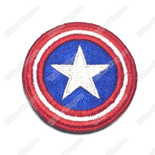 PB610 Captain America Shell Patch With Velcro - Full Colour