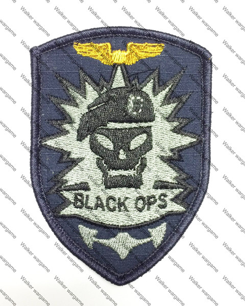 B1296 Call OF Duty 7 Black OPS COD7 Patch With Velcro - Full Colour
