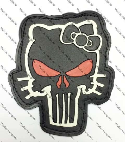 PB695 US Navy Seal Team 6 Tactical Punisher Kittle Patch With Velcro - Full Colour
