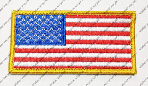 B607 US Flag Right Arms With Velcro - Full Colour