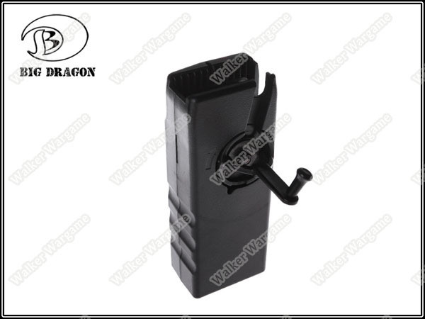 BD Sidewinder Airsoft BB Speed Loader 1000rds Capacity- Black (For M4 Mag)