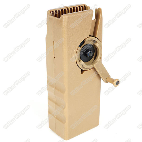 BD Sidewinder Airsoft BB Speed Loader 1000rds Capacity - Tan (For M4 Mag)