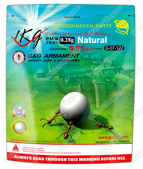 G&G High Quality Precision Grade Biodegradable 0.28g BB - 3570 rds