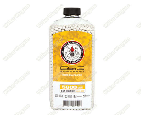 G&G 0.25G P.S.B.P. Perfect Spherical Seamless 6mm Airsoft BBs - 5600rds Bottle
