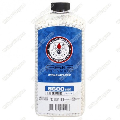 G&G 0.28G P.S.B.P. Perfect Spherical Seamless 6mm Airsoft BBs - 5600rds Bottle