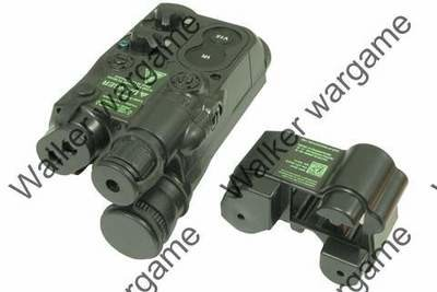Tactical AN / PEQ-16 Style Battery Case Box With RIS Mount - BL