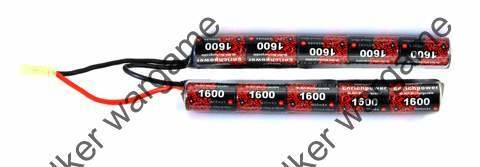 G&G NiMH 9.6V 1600mAh Airsoft Battery Pack - Crane Stock Type