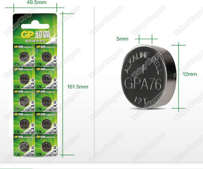 GP Batteries 1.5V LR44 A76 AG13 L1154 Lithium Coin Batteries For Airsoft Red Dot Sight
