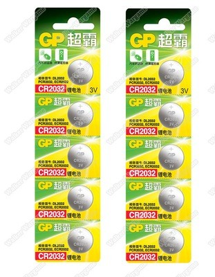 GP Batteries 3V CR2032 Lithium Coin Batteries For Airsoft Red Dot Sight