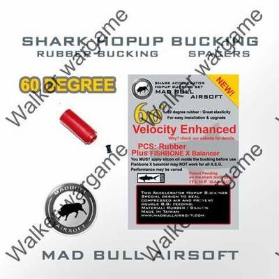 Original MadBull 60 Degree Shark Accelerator Hopup Bucking - Red x1 Unit
