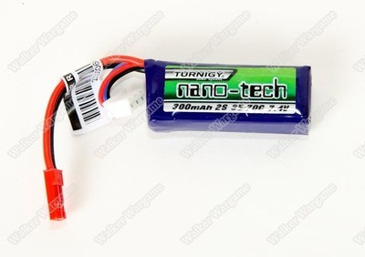 Nano Tech 7.4v Lipo Battery 300mAH (JST) With Balance Adapter
