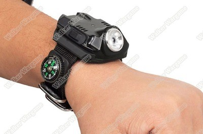 EyeFire 2211 Outdoor Tacticl Rechargeable Wrist Flashlight 240 Lumens - Black