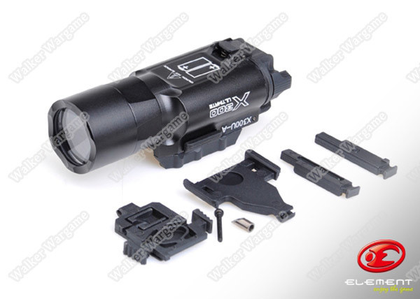 Element SF X300U Style Weapon Light, Pistol Rifle Tactical Flashlight Torch